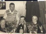 Banquet des anciens; Jeanne GUILLOT, André DUCROZ, Elise COLLOMBIER et soeur Marie-Aimée .JPG